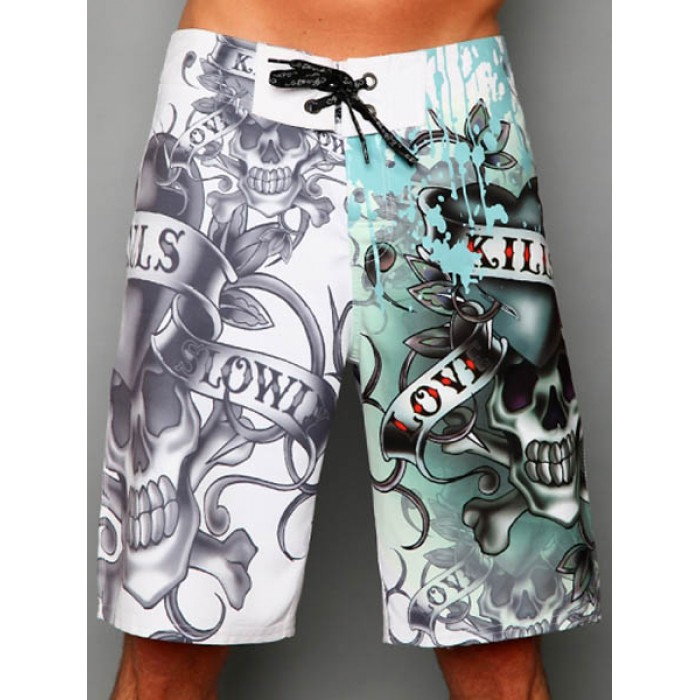 Ed Hardy accessories,Mens beach pants in white