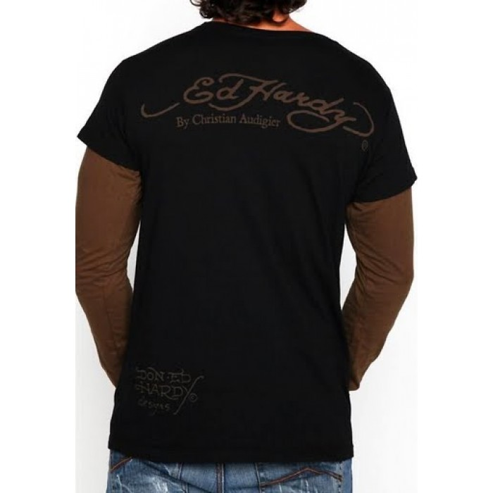 Ed Hardy shop online,Mens Peace Love Tattoos Long Sleeve T Shirt