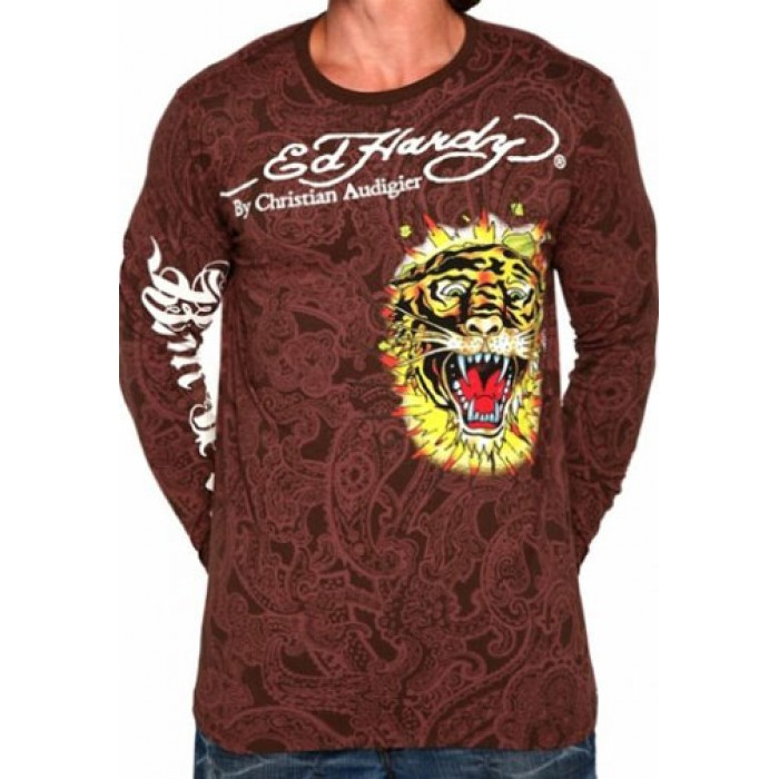 Ed Hardy slim fit,Exploding Skull Specialty Multiprint T Shirt