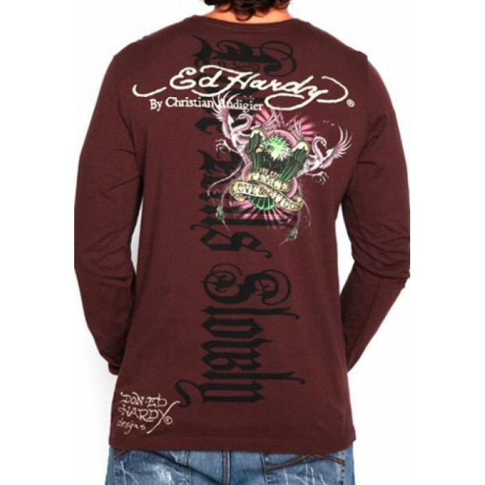 Ed Hardy stylish,Two Swords Skull Snakes Multiprint T Shirt