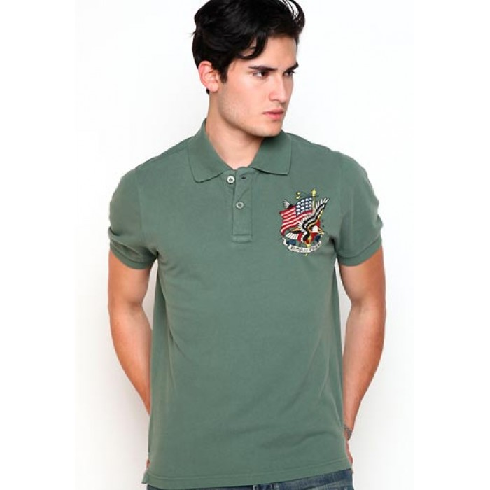 ed hardy pretty and colorful,Born Free Basic Embroidered Polo