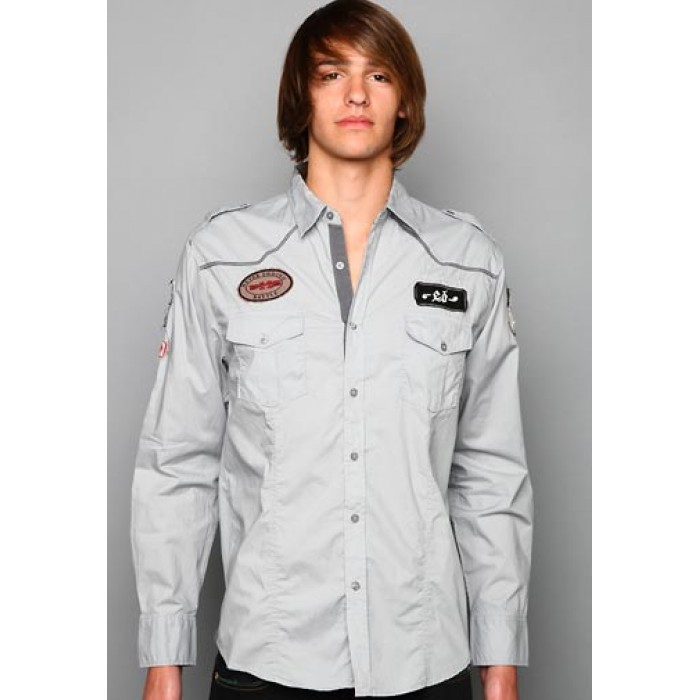ed hardy outlet store sale,EH Patched Utility Embroidery Shirt