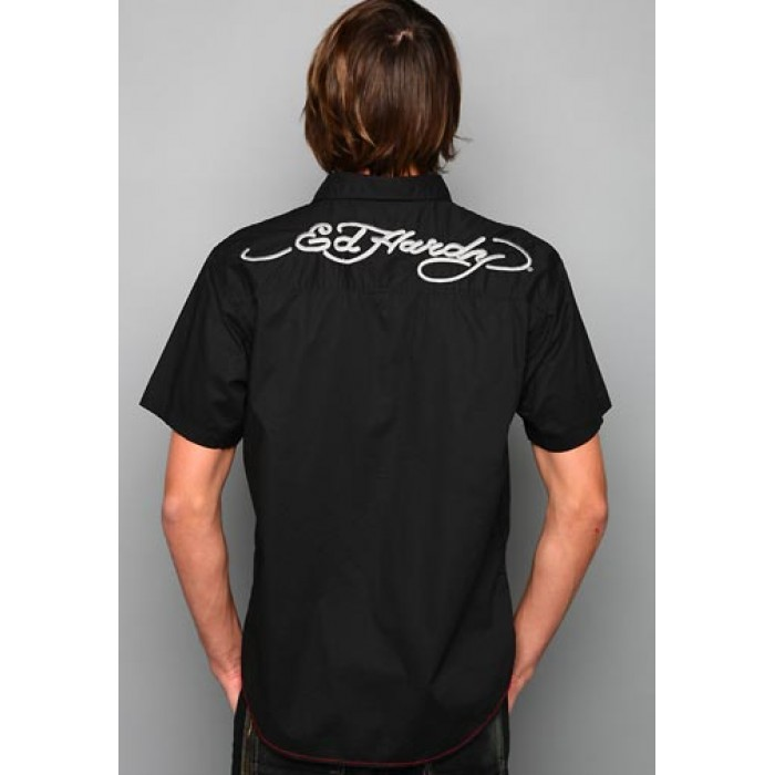 ed hardy Outlet USA,EH Tiger Signature Embroidered Shirt