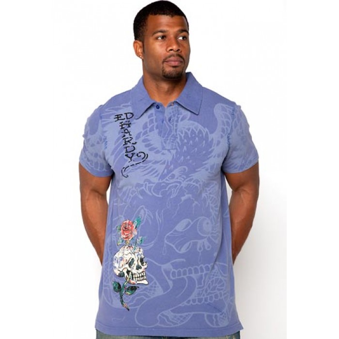 ed hardy plus size,Eagle Dagger DBD Enzyme Washed Polo
