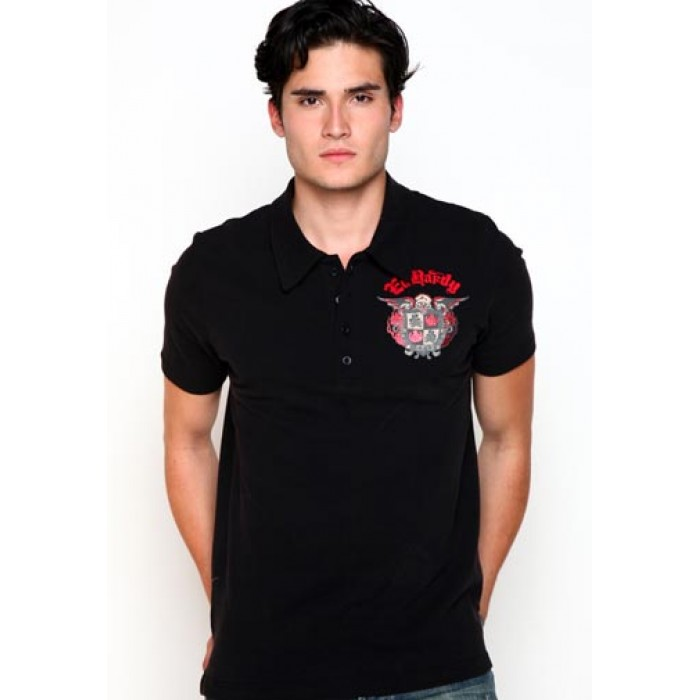 ed hardy reliable supplier,Skull Crest Foiled Polo