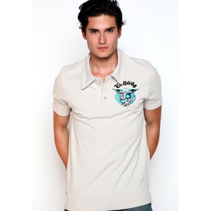 ed hardy Paris,Skull Crest Foiled Polo