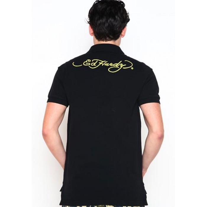 ed hardy outlet stores,Tiger Basic Embroidered Polo