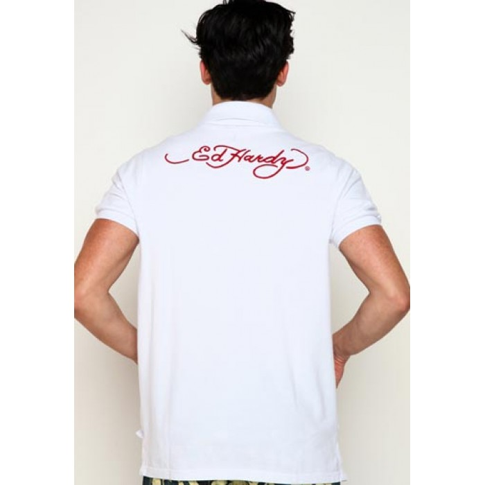 ed hardy Quality Design,True Til Death Basic Embroidered Polo