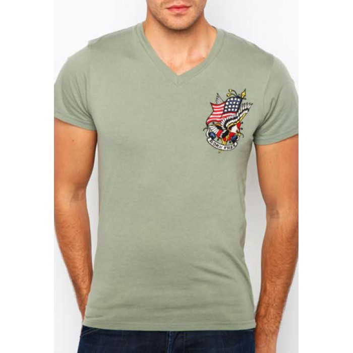 Ed Hardy coupon codes,Born Free Core Basic Embroidered Tee