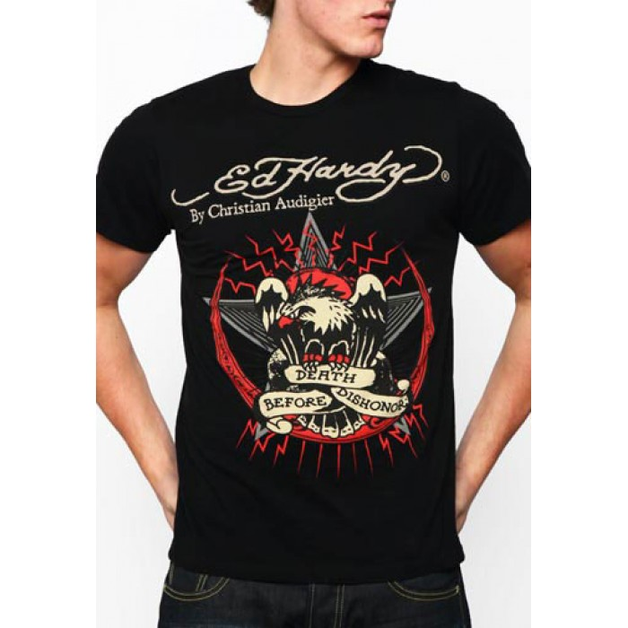 Discount Ed Hardy,Death Before Dishonor Basic Tee black