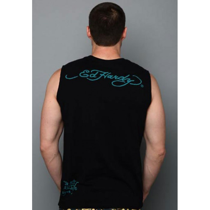 discount Ed Hardy Online,Eagle USA Basic Muscle Tank black