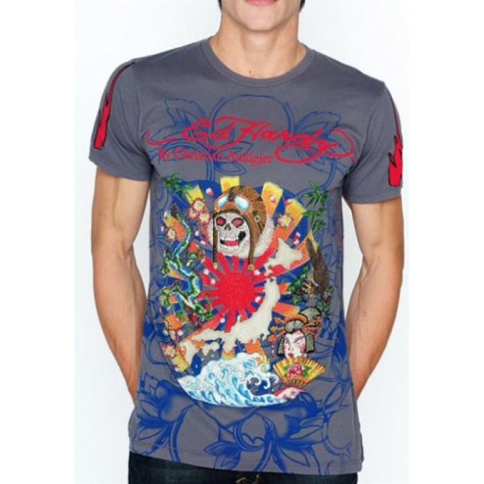best things of Ed Hardy,Kamikaze Multiprint Platinum Tee