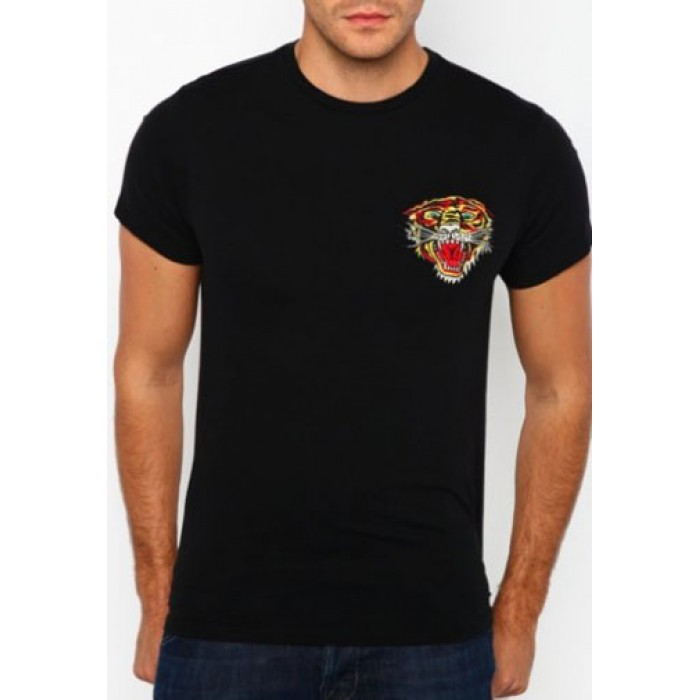 USA Ed Hardy,New Tiger Core Basic Embroidered Tee