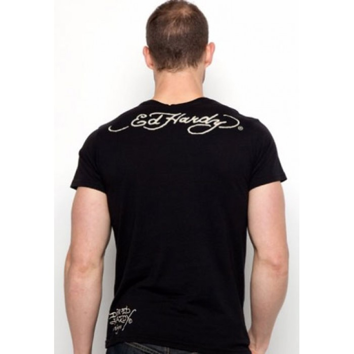 Ed Hardy Accessories,Skull Heart And Cards Basic Tee black