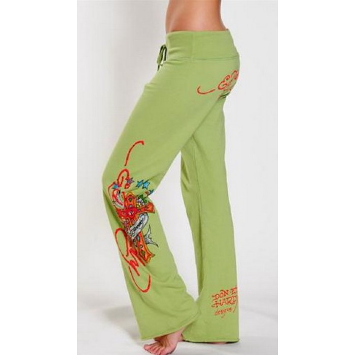 ED Hardy Drawstring Lounge Pants Hollywood in Olive green