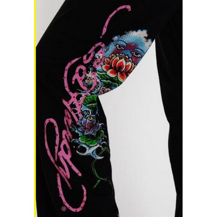 ED Hardy Drawstring Lounge Pants Love Kills Slowly in Black