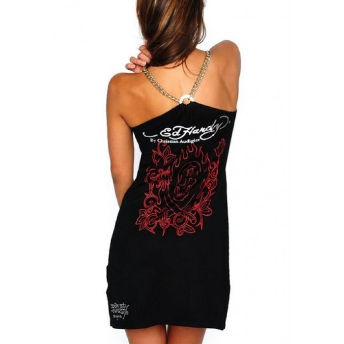 Ed Hardy Women's Beautiful Skull dress in Black