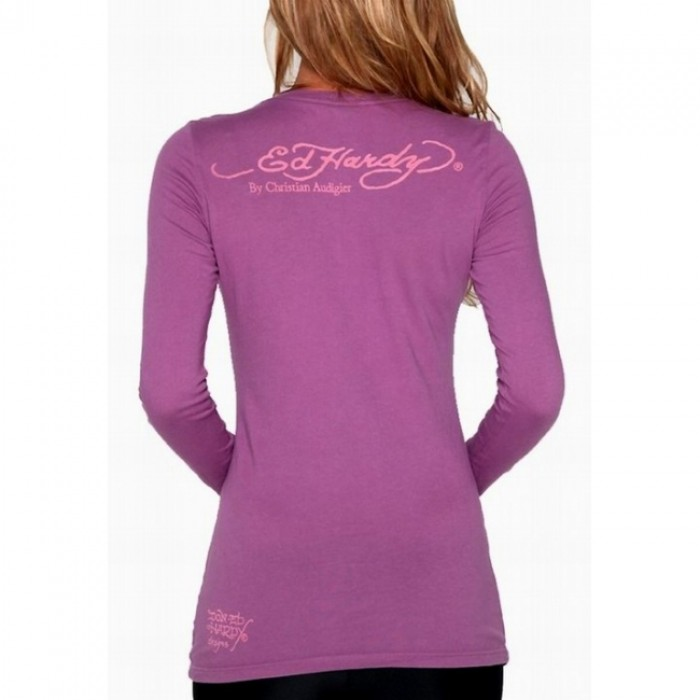 Ed Hardy official shop,ED Hardy Womens Long Sleeve T Shirt