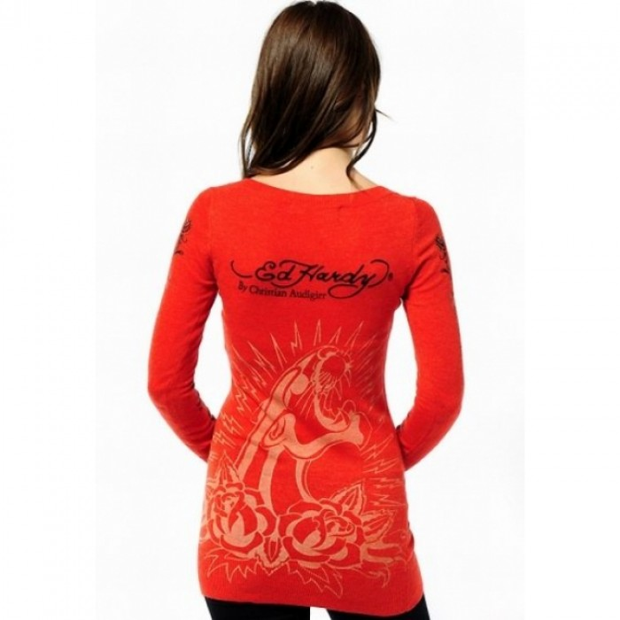 Ed Hardy Official supplier,ED Hardy Womens Long Sleeve T Shirt