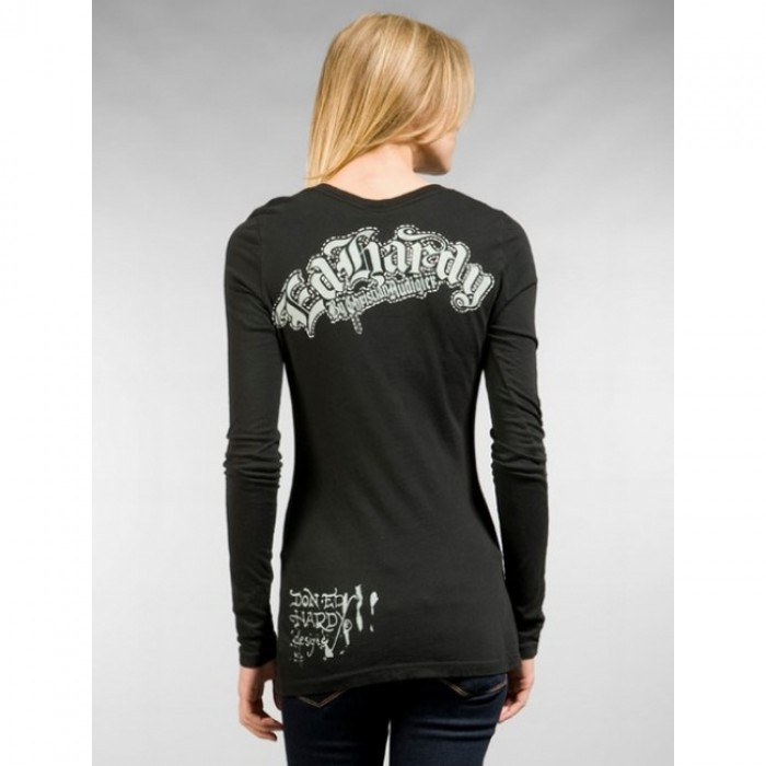 Ed Hardy Official Website,ED Hardy Womens Long Sleeve T Shirt
