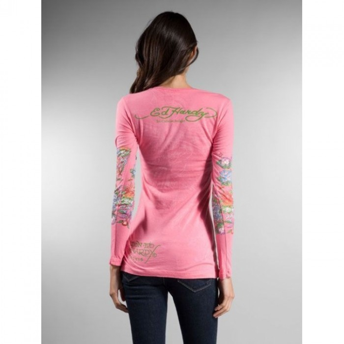 Ed Hardy official website Cheapest,ED Hardy Womens Long Sleeve T Shirt