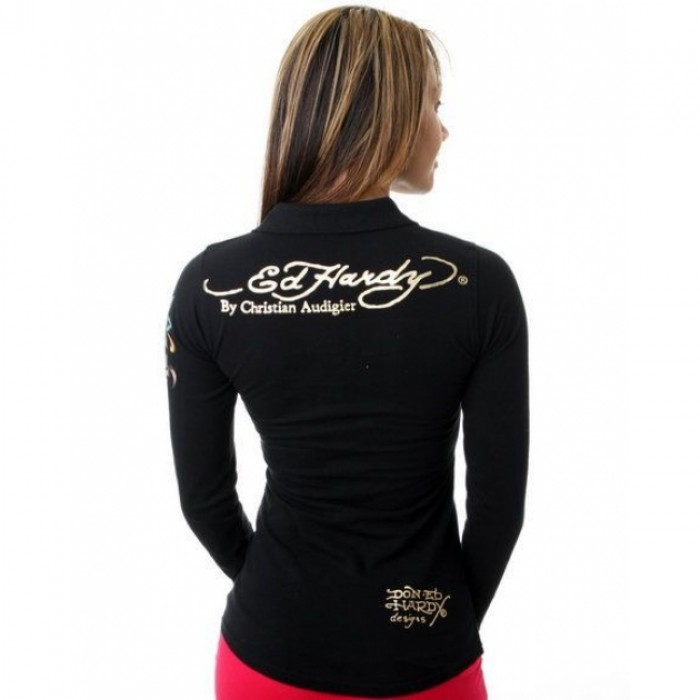Ed Hardy officially authorized,ED Hardy Womens Long Sleeve T Shirt