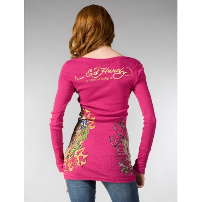Ed Hardy Online Sale,ED Hardy Womens Long Sleeve T Shirt