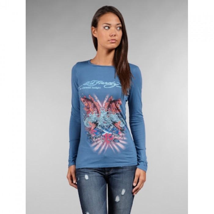 Ed Hardy online shop fashion,ED Hardy Womens Long Sleeve T Shirt