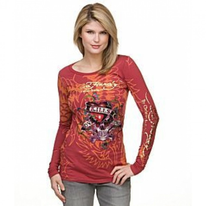 Ed Hardy outlet coupon,ED Hardy Womens Long Sleeve T Shirt