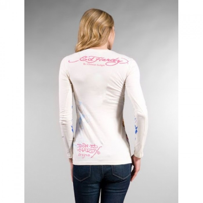 Ed Hardy outlet coupons,ED Hardy Womens Long Sleeve T Shirt