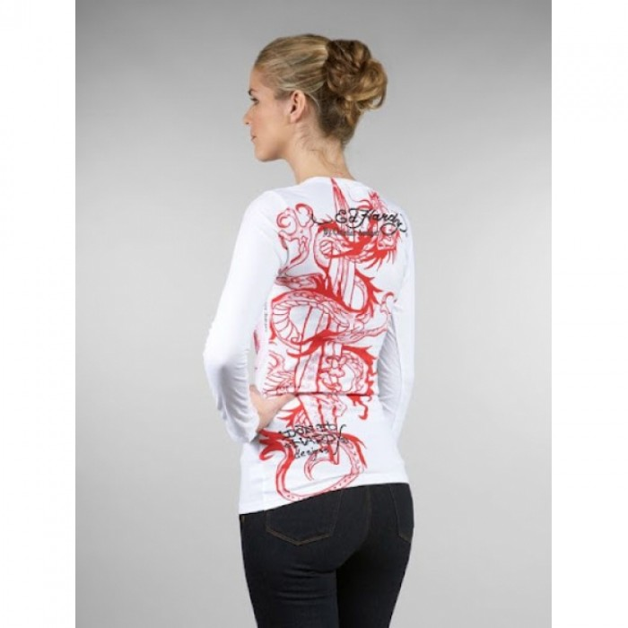 Ed Hardy outlet for sale,ED Hardy Womens Long Sleeve T Shirt