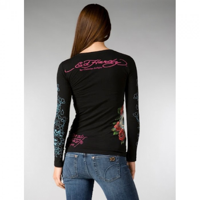 Ed Hardy Outlet Online,ED Hardy Womens Long Sleeve T Shirt