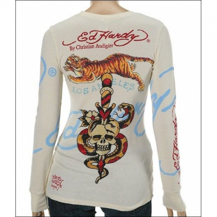 Ed Hardy outlet online official,ED Hardy Womens Long Sleeve T Shirt