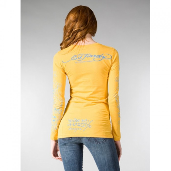 Ed Hardy outlet online shop,ED Hardy Womens Long Sleeve T Shirt