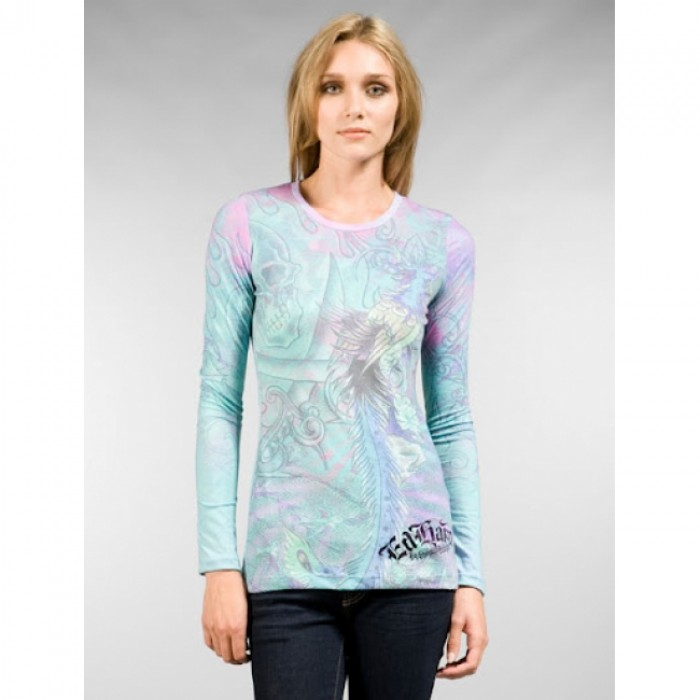 Ed Hardy Outlet Sale,ED Hardy Womens Long Sleeve T Shirt