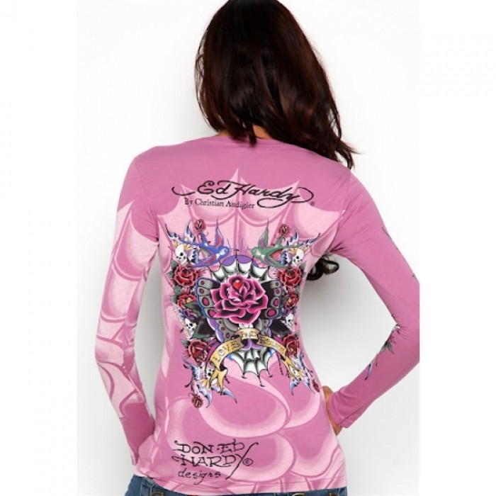 Ed Hardy Outlet Store,ED Hardy Womens Long Sleeve T Shirt