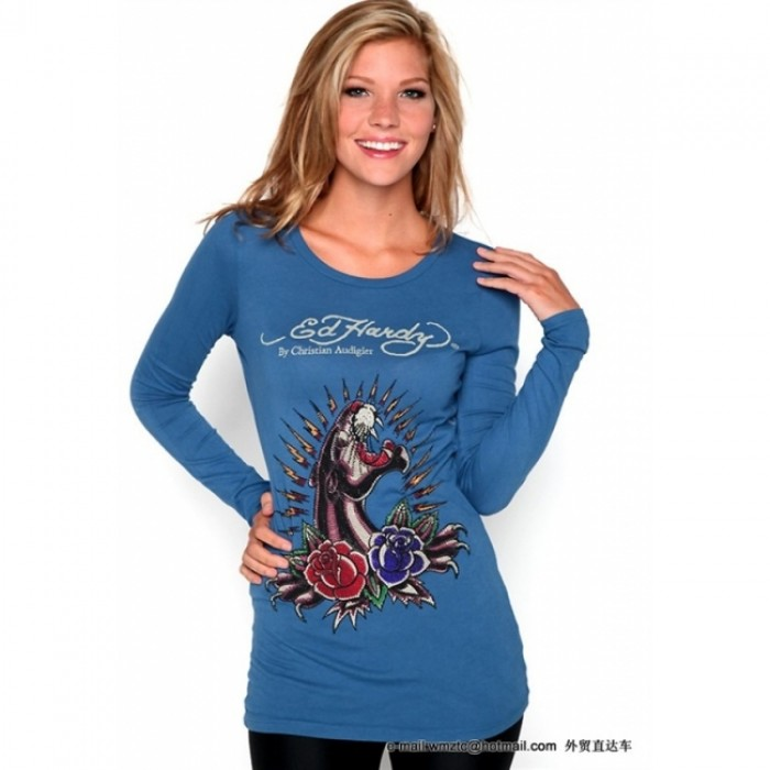 Ed Hardy outlet stores online,ED Hardy Womens Long Sleeve T Shirt