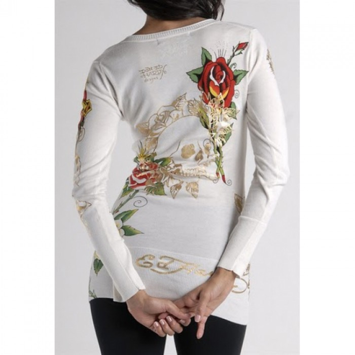 Ed Hardy plus,ED Hardy Womens Long Sleeve T Shirt