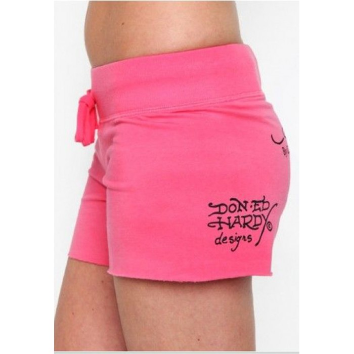 Ed Hardy Womens Shorts rose red