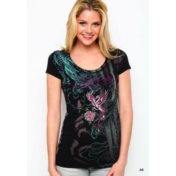 Authentic Ed Hardy,Blue Bird Platinum Tunic