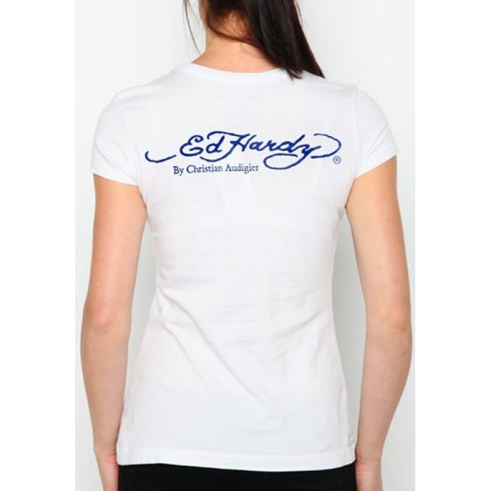 By Ed Hardy,Eagle Anchor Core Basic Embroidered Tee