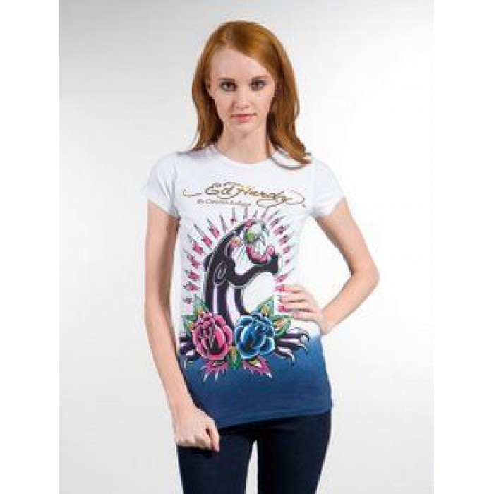 Ed Hardy Womens Short sleeves T-Shirts NEW 013