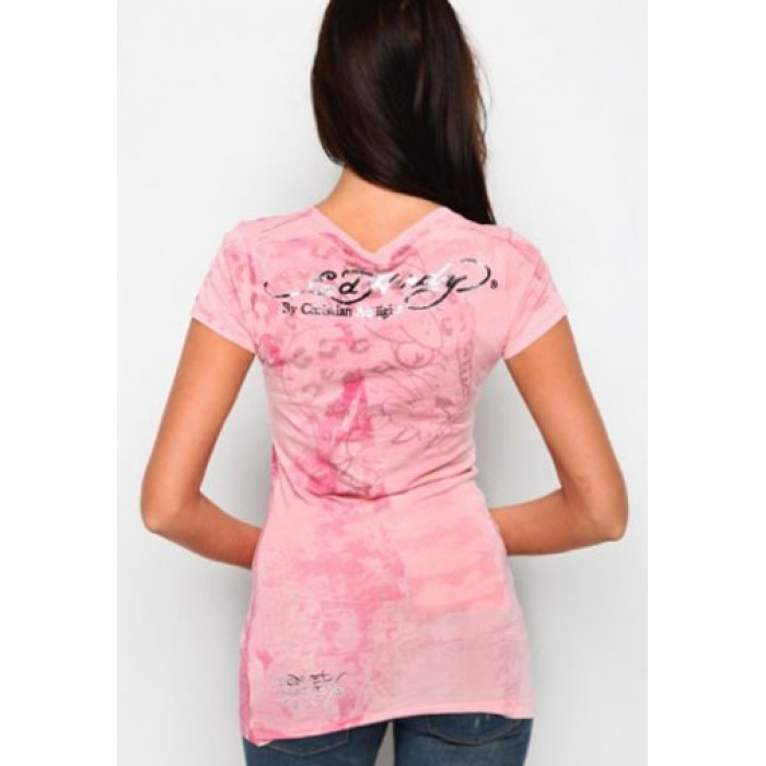 what are pics of Ed Hardy,Flower Dragon Specialty Scoop Neck Tunic