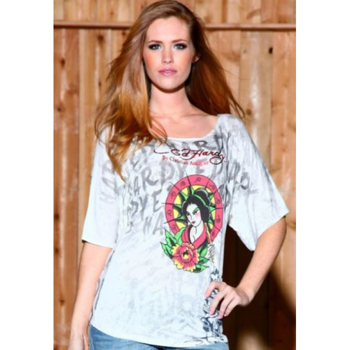 official shop Ed Hardy,Geisha Parasol Specialty Butterfly Tunic