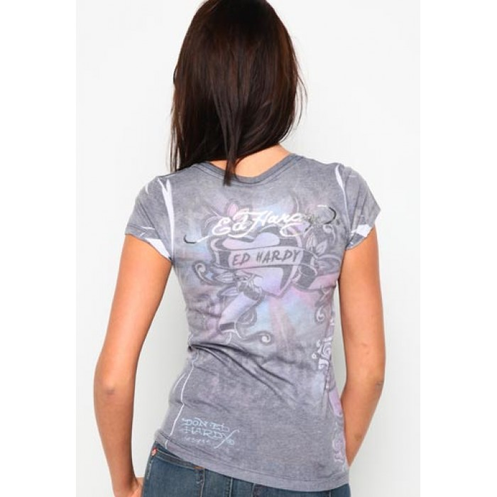 USA official online shop,King Skull Sublimation Tee Grey