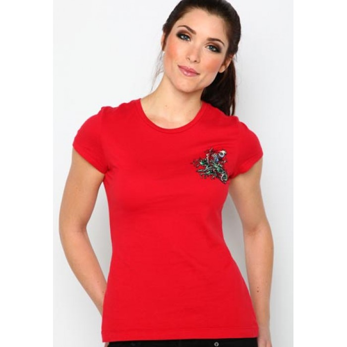Ed Hardy hot sale Online,Koi Core Basic Embroidered Tee