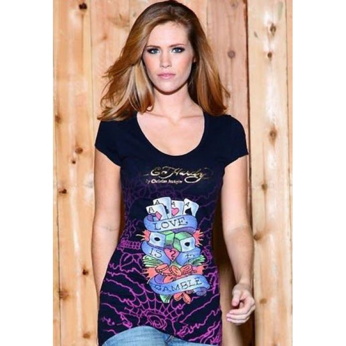 Ed Hardy USA Sale Online Store,Love Is A Gamble Platinum Tunic