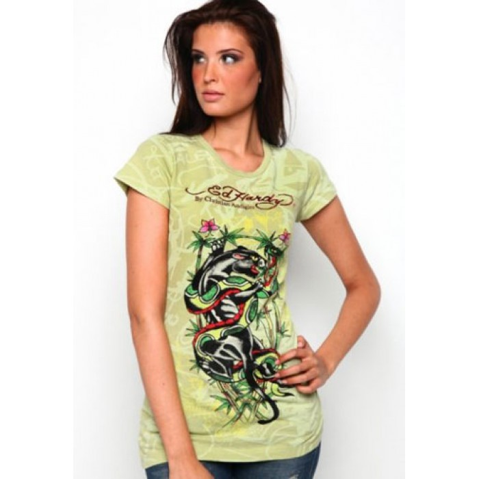 wholesale Ed Hardy price,Panther And Snake Fight Specialty Tee