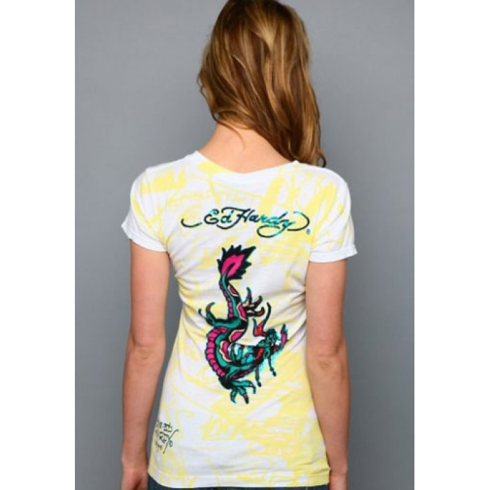 Ed Hardy cheap Store,Two Koi Specialty Foiled Tee